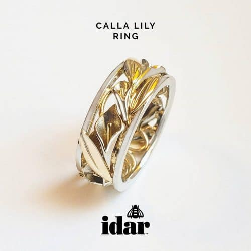 Idar Jewellers, shopping Victoria, BC, Canada, Calla Lily Ring, award winning, luxury, hand-crafted, custom, rings, wedding, engagement, anniversary, birthday, treat yourself, For Me From Me, gold, diamonds