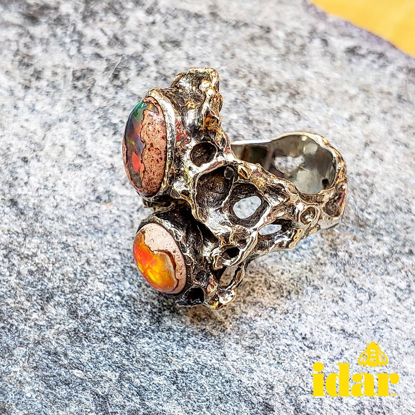 vancouver-art-gallery-modern-in-the-making-exhibition-jewellery-opals-gold-ring-artist-Idar-Bergseth-4