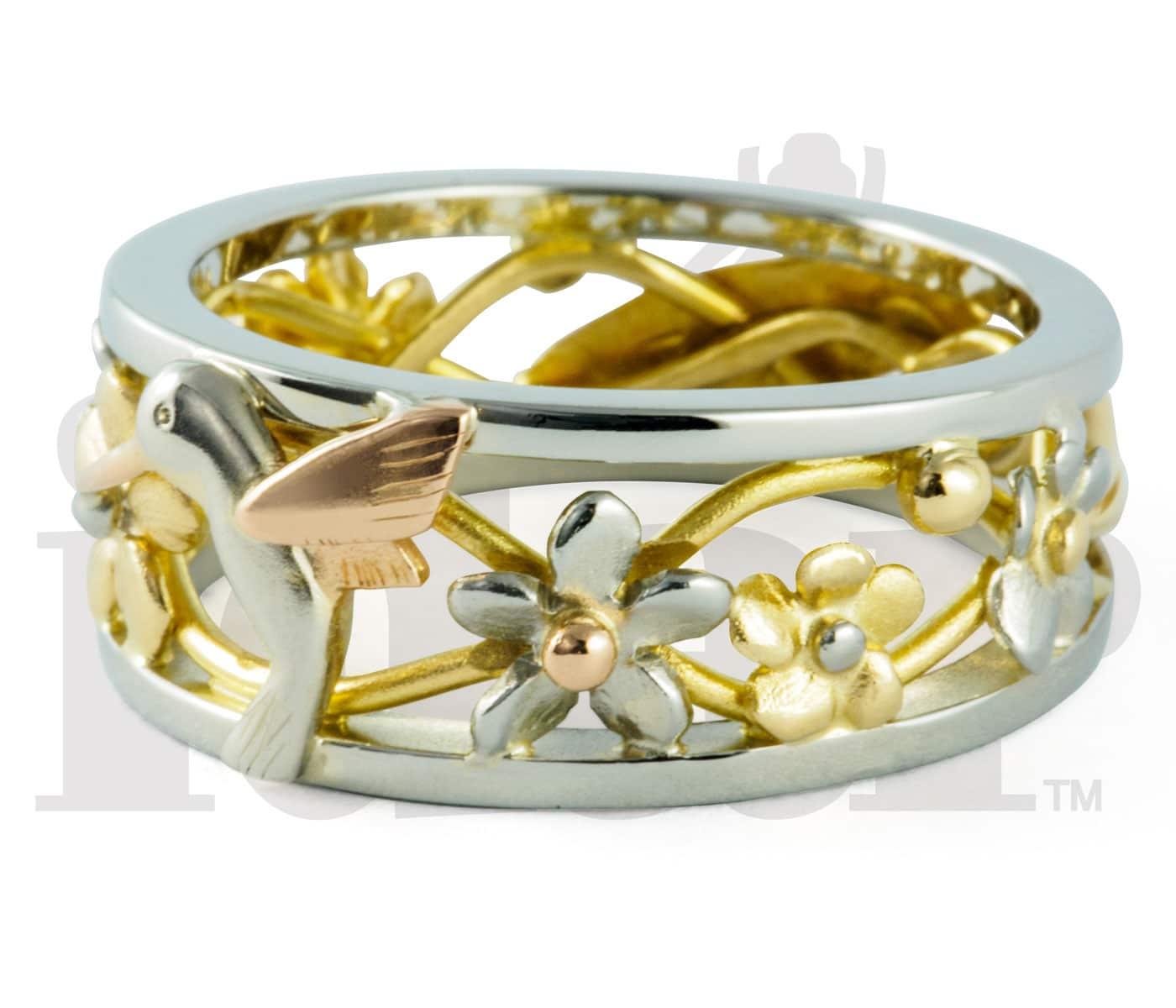Idar Jewellers, gold handcrafted jewellery, Hummingbird Ring, Victoria, BC, Vancouver, Calgary, Edmonton, Ottawa, Toronto, Montreal, Canada