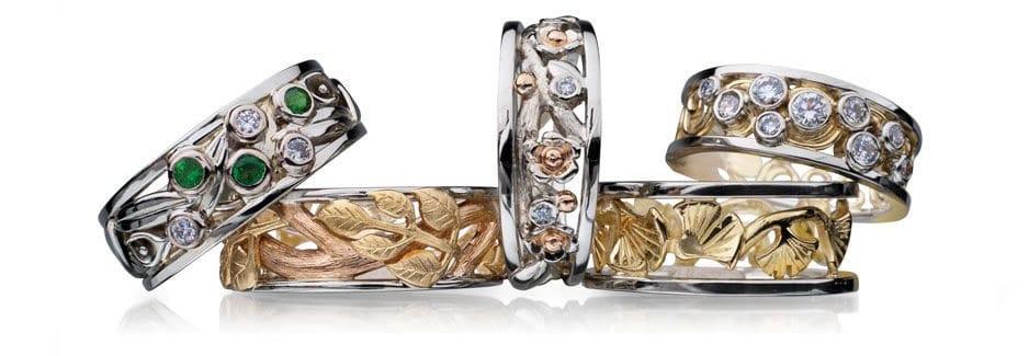 Idar Jewellers, diamonds, gold handcrafted jewellery The Botanical Series, Victoria, BC, Vancouver, Calgary, Edmonton, Ottawa, Toronto, Montreal, Canada